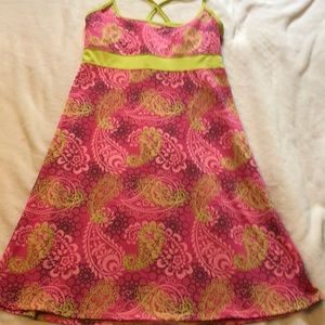 Lola Athletic pink paisley dress size medium